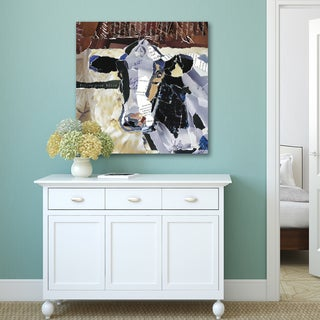 Portfolio Canvas Decor Carol Robinson 'Country Cow' Canvas Print Streched/Wrapped Ready-to-hang Wall Art
