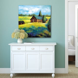 Portfolio Canvas Decor Sandy Doonan 'Country Barn i' Stretched-canvas Wall Art