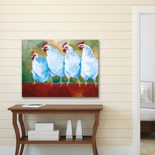 Portfolio Canvas Decor Sean Parnell 'Clucking Hens' Stretched and Wrapped Canvas Wall Art Print