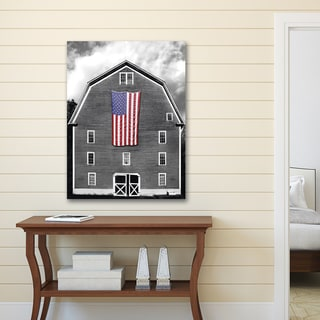 Portfolio Canvas Decor James McLoughlin 'Flags of Our Farmers 10' Stretched and Wrapped Canvas Wall Art Print