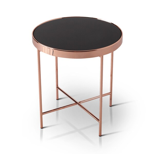 Rose Gold Mirrored Coffee Table: Shop Furniture Of America Rosina Contemporary Mirrored