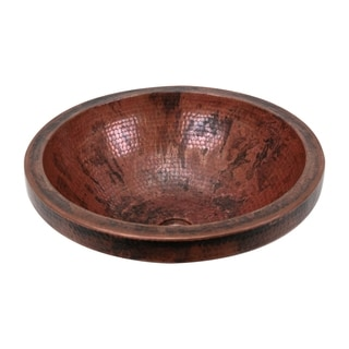 Unikwities Sierra Fired Copper 17 x 6 Round Vessel Sink