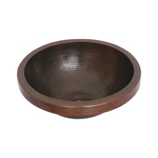 Unikwities Oil-rubbed Bronze Finish Hammered Copper Vessel Sink