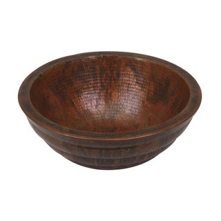 Unikwities Round Double-wall Sierra Copper Vessel Sink