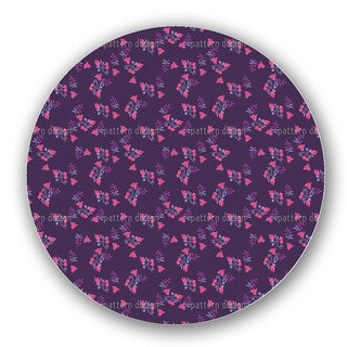 Scattered Flowers On Lilac Lazy Susan