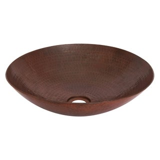 Unikwities Bronze Copper Hand-hammered Vessel Sink