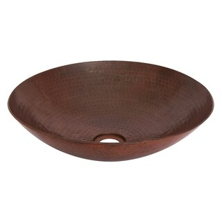 Unikwities 16 X 3.5 inch Round Vessel Copper Sink in Bronze Finish