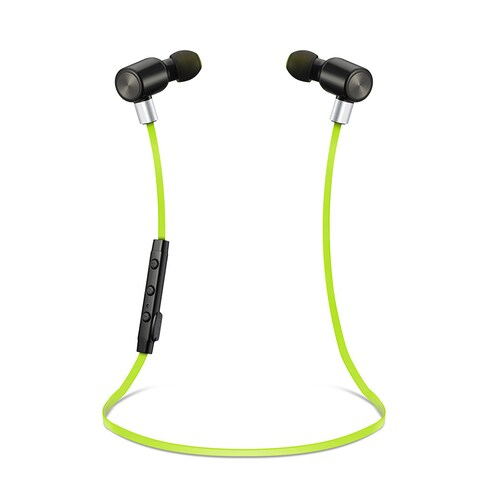 Bluetooth Black/Green Wireless Sport Stereo In-Ear Headphones for iPhone and Android Devices