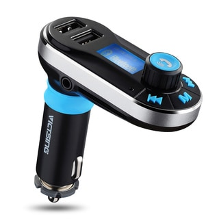 Wireless Bluetooth FM Transmitter with Dual USB Charging and Hands-free Calling for iPhone/Smart Phone/Tablet Car Music Player