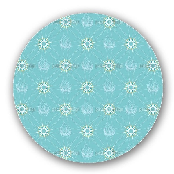 Sailing Pattern Lazy Susan