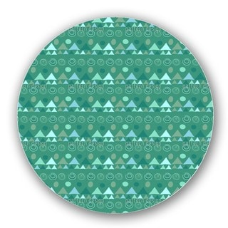 Triangles In Green Lazy Susan