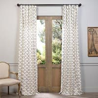 "Exclusive Fabrics Exclusive Fabrics Illusions Printed Cotton Curtain Panel 96""L in Silver Grey (As Is Item)"