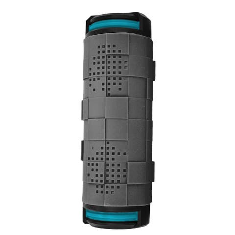 Coleman AktivSounds CBT18 Grey/Blue Waterproof Bluetooth Surround Barrel Speaker