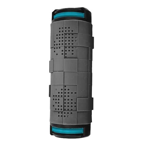 Coleman AktivSounds CBT18 Grey/Blue Waterproof Bluetooth Surround Barrel Speaker