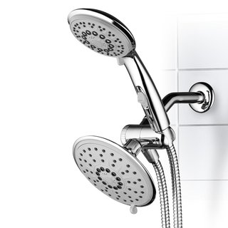 Hydroluxe 30-Setting 3-Way Rainfall Shower Head and Handheld Shower Combo