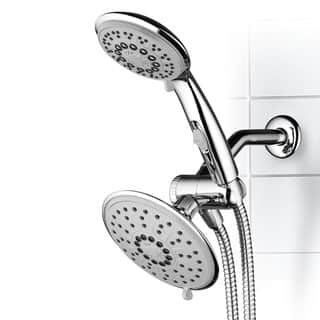 shower head and rain shower combo. Hydroluxe 30 Setting 3 Way Rainfall Shower Head and Handheld Combo Heads For Less  Overstock com