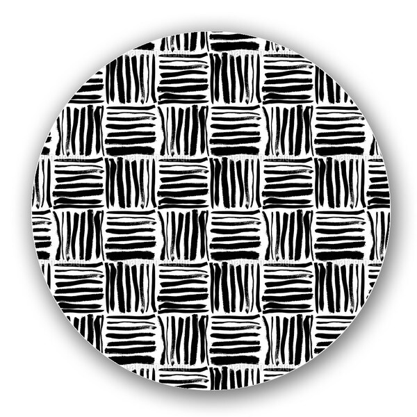 Painted Stripes Lazy Susan