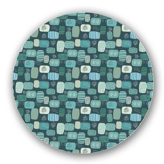 Patches In Blue Lazy Susan