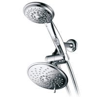 HotelSpa Ultra-Luxury 30-Setting Chrome 3-Way Rain Shower Head Combo