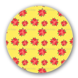 Poinsettia In Bloom Lazy Susan