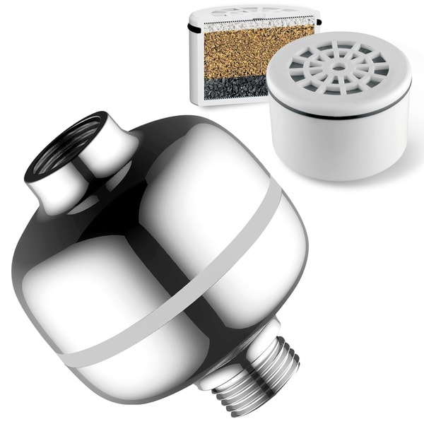 HotelSpa Advanced High-Intensity Super-Compact Universal 3-Stage Shower Filter