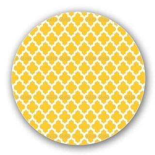 Unique Ikat Yellow Lazy Susan