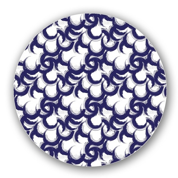Lively Painted Circles Lazy Susan