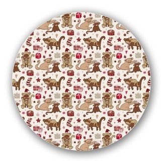 Have A Monkey Christmas Lazy Susan