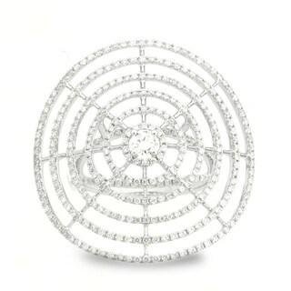 Azaro 18k White Gold 1 1/4ct TDW Spider Web Diamond Fashion Band (G-H, SI1-SI2)