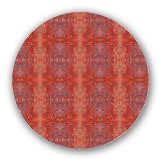 Stained Red Lazy Susan
