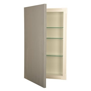 WG Wood Products Wood/Glass14-inches Wide x 37-inches Tall x 2.5-inches Deep Rrecessed Disappearing Frameless Wall Cabinet