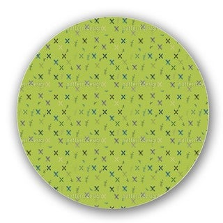 Resis Mural Painting Green Lazy Susan