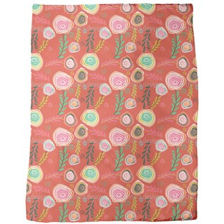 Crazy For Roses Fleece Blanket