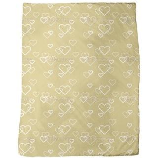 Heart of Gold Fleece Blanket