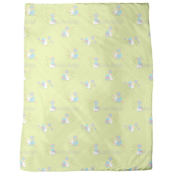 Busy Easter Bunny Fleece Blanket