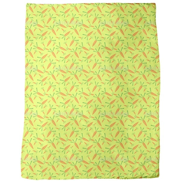 Carrot Harvest Fleece Blanket