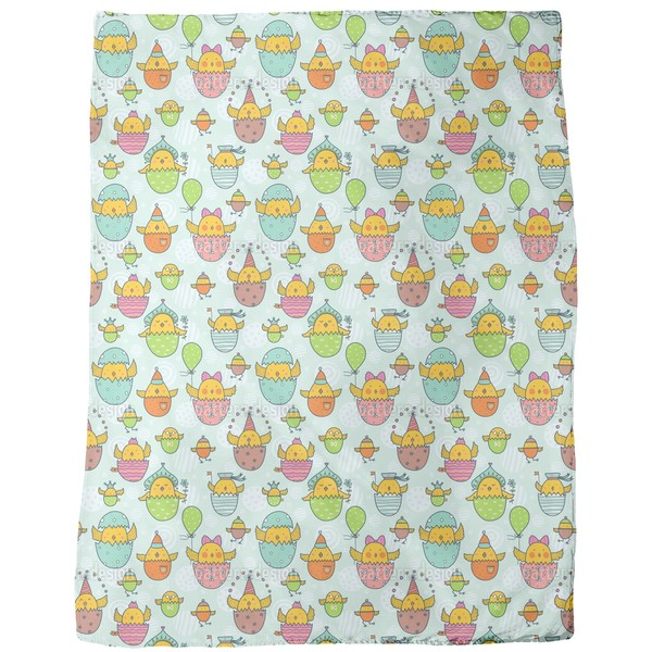 The Russian Easter Chick Hatch Fleece Blanket