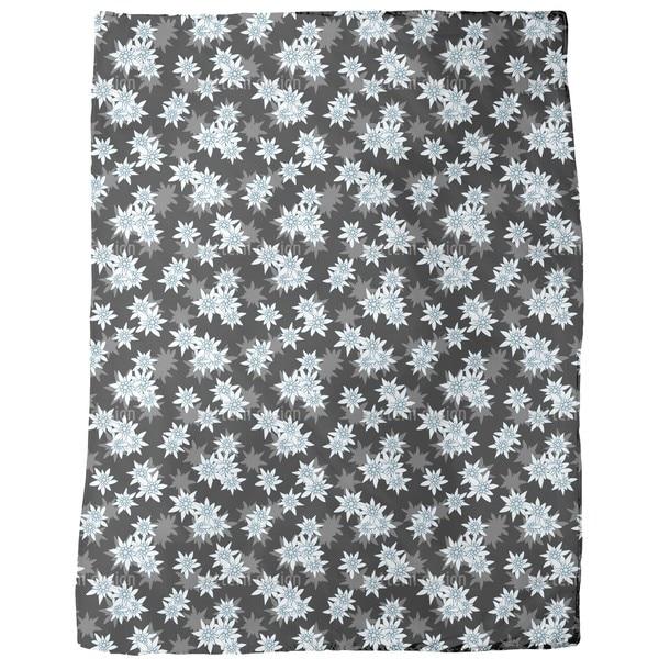 Edelweiss Black Fleece Blanket