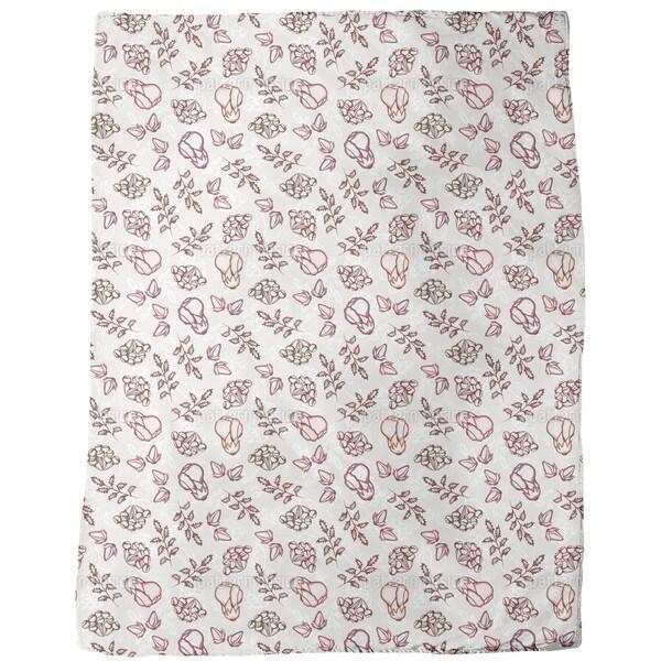 Wild Garden Fleece Blanket