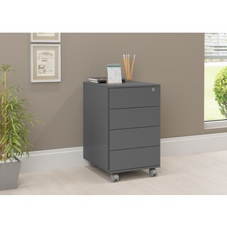 Modern Cabinet with 4 Drawers and Casters