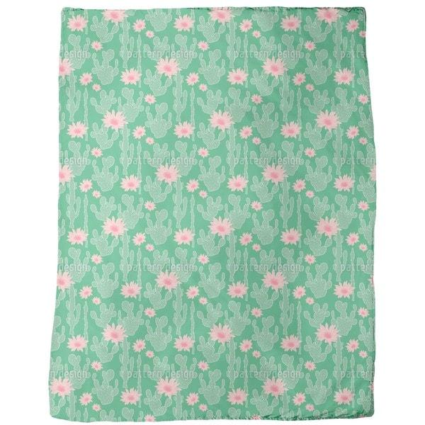 Cactus in Bloom Fleece Blanket