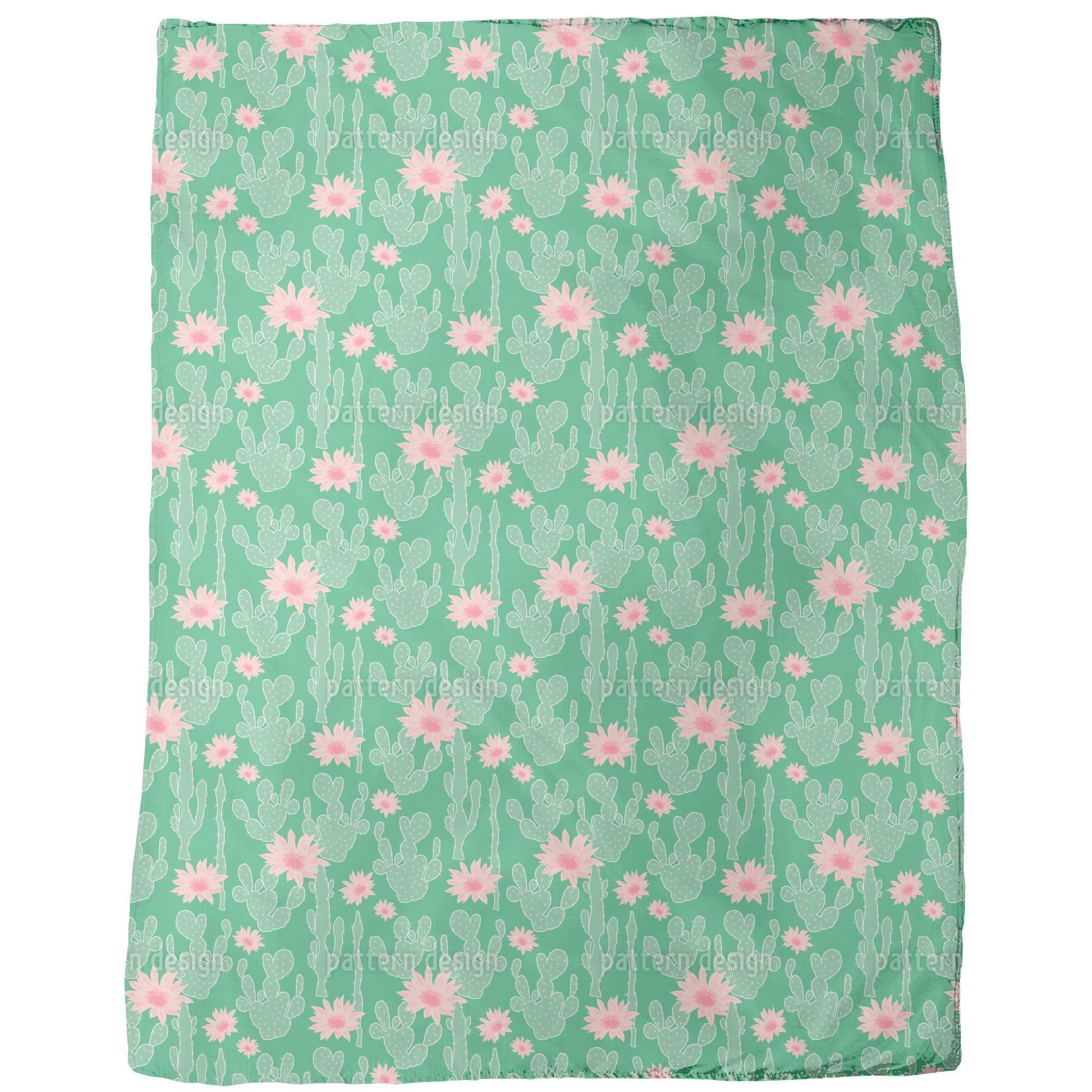 Uneekee Cactus in Bloom Fleece Blanket (Small), Multi