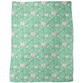 Cactus in Bloom Fleece Blanket