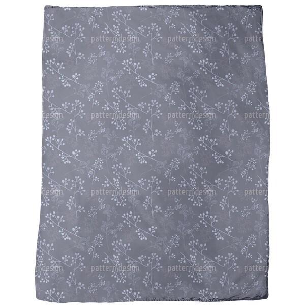 Twiggy Dark Blue Fleece Blanket