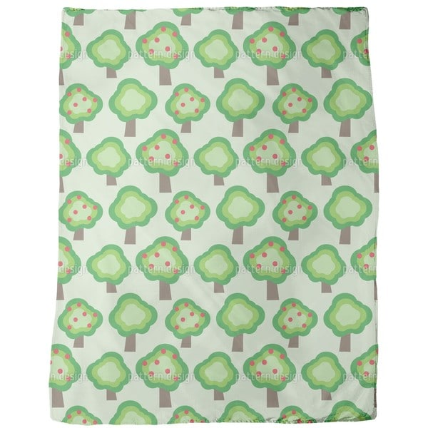 Apple Trees Fleece Blanket