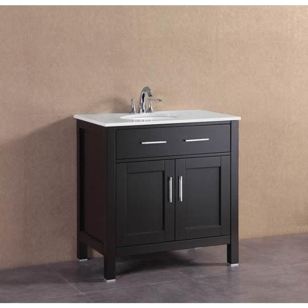 Shop Belvedere Modern Espresso Inch Freestanding Single Bathroom - Modern free standing bathroom vanities