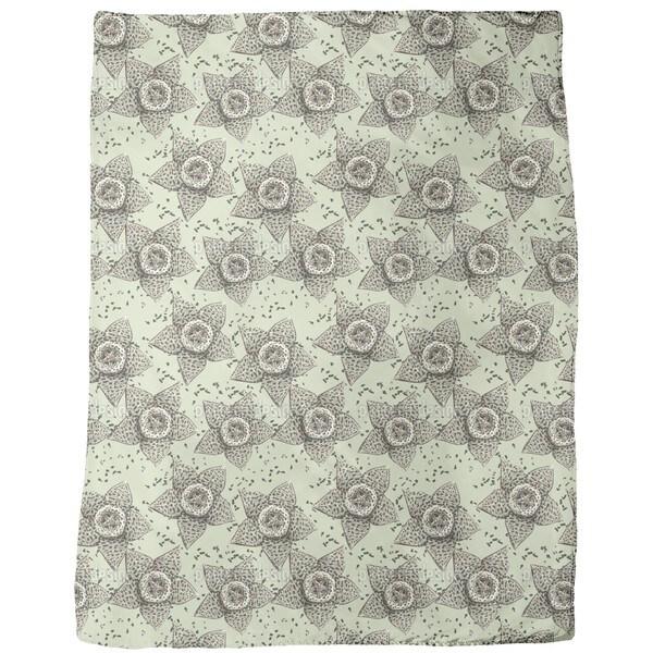 Stapelia Flower Fleece Blanket