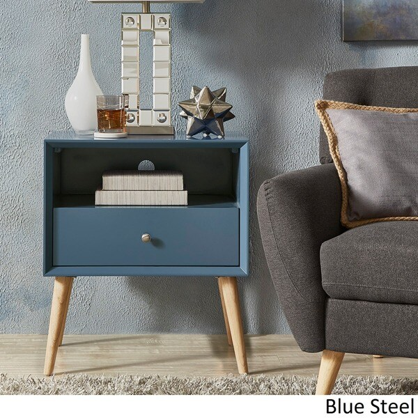 Marin Danish Modern 1 Drawer Storage Accent Side Table INSPIRE Q Modern    Free Shipping Today   Overstock.com   19400084