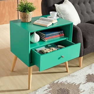Marin Danish Modern 1-drawer Storage Accent Side Table by MID-CENTURY LIVING
