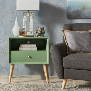 Marin Danish Modern 1-drawer Storage Accent Side Table iNSPIRE Q Modern